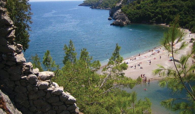 سواحل ترکیه - ساحل کیرالی- اولیمپوس (آنتالیا)
