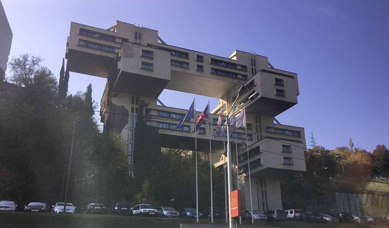 جاهای دیدنی تفلیس - بانک گرجستان در میدان آزادی