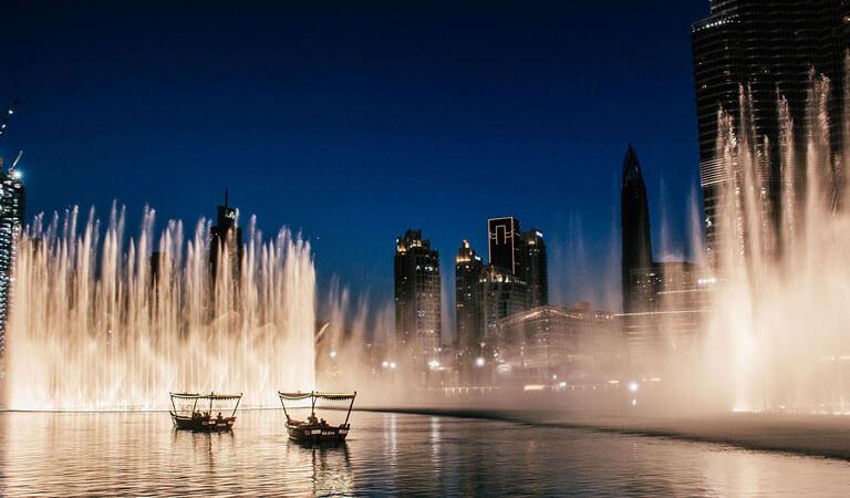 جاهای دیدنی دبی - فوارههای موزیکال دبی