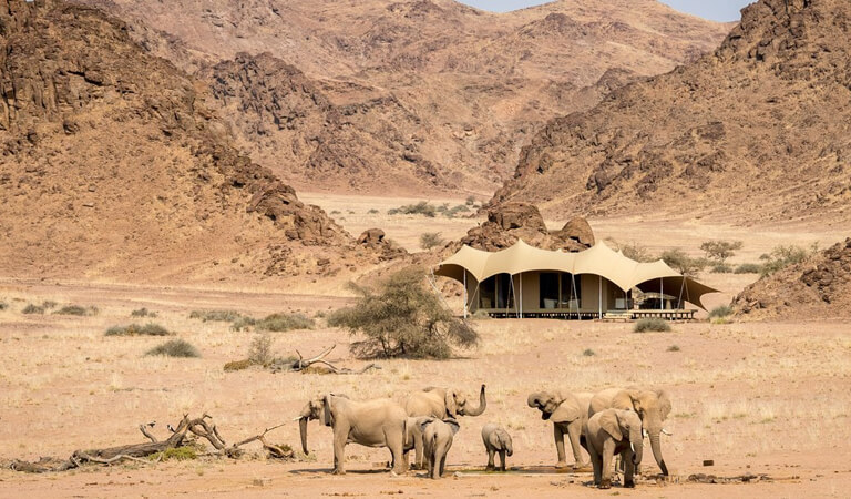 بهترین هتل های جهان - اردوگاه ساحلی هانیب اسکلتون در نامیبیا