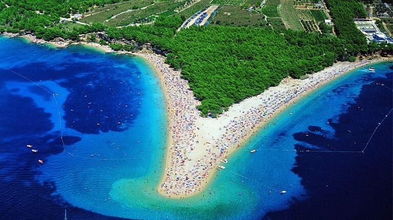 زيباترين سواحل دنيا - Zlatni rat (ساحل شاخ طلایی) - براک، کرواسی