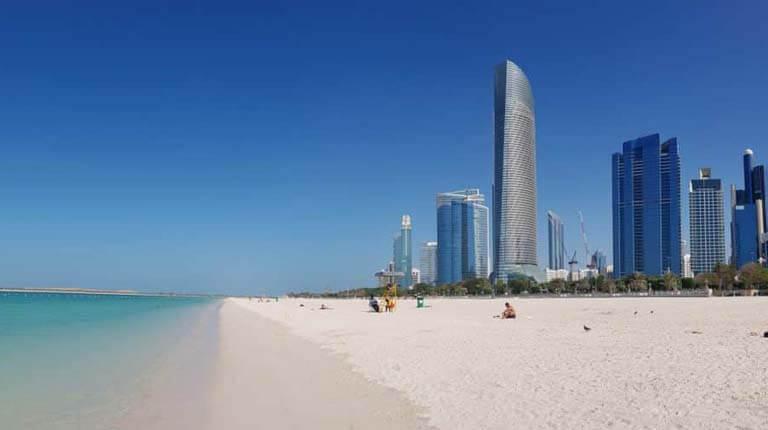 زيباترين سواحل دنيا - ساحل کورنیش ابوظبی - امارات متحده عربی