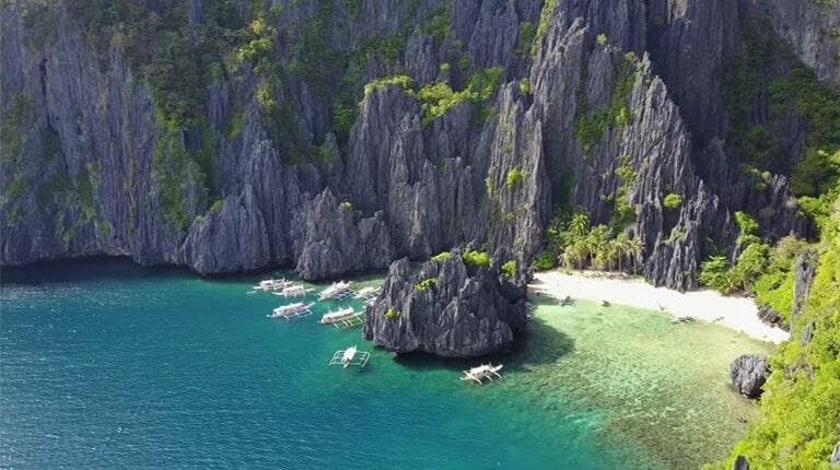 زيباترين سواحل دنيا - تالاب مخفی (اسرارآمیز) – ال نیدو، پالاوان، فیلیپین