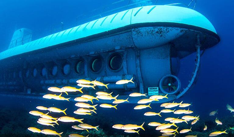 جزایر هاوایی - مشاهده یک کشتی غرق شده از یک زیردریایی